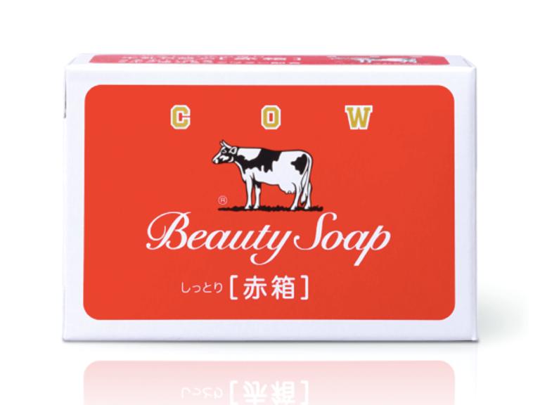 洗顔 箱 石鹸 牛乳 赤